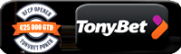 TONYBET Pokker tervitusboonus 100% KUNI €2000 TERVITUSBOONUS +€10 TASUTA PILET €2500 GTD TURNIIRILE tonybet pokker boonus 200x60