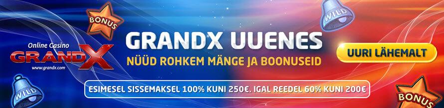 grandprix kasiino GrandPrix Kasiino grandx uus boonused 890x218