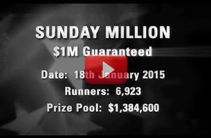 Vaata Sunday Million turniiri finaallauda 18/1/15 Vaata Sunday Million turniiri finaallauda 18/1/15 sunday million 18 1 15 boonused 1 Pokkeri videod Pokkeri videod sunday million 18 1 15 boonused 1
