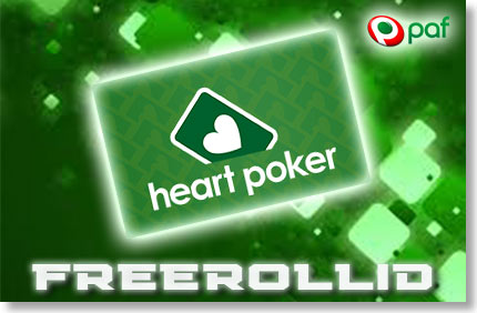 VÕTA OSA NÄDALAVAHETUSE FREEROLLIDEST PAF HEART POKKERIS FREEROLLID FREEROLLID paf heart poker freerolls boonused 1