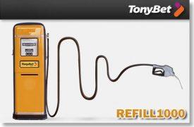 TONYBET POKKER RELOAD BOONUS 100% KUNI €1000 Tonybet Tonybet lae raha uuesti 1000 tonybet boonused 1 430x282 275x180