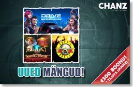 CHANZ KASIINO UUED MÄNGUD: Drive Multiplier Mayhem; Fantasini Master of Mystery; Guns N' Roses chanz Chanz chanz kasiino uued games boonus 1 275x180