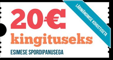 tee ÜkskÕik milline spordipanus ja saad omale tasuta €20 eurot pÄrisraha TEE €5 SPORDIPANUS JA SAAD OMALE TASUTA €20 EUROT PÄRISRAHA paf 20 euro tasuta transparent 2