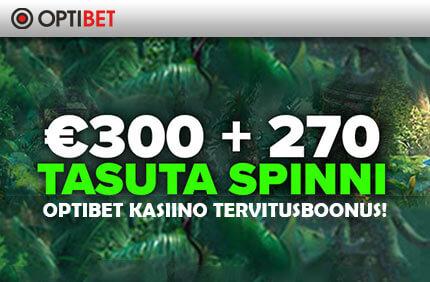OPTIBET KASIINO TERVITUSBOONUS €300 + 270 TASUTA SPINNI! tasuta spinnid Tasuta Spinnid, Tasuta Kasiino Mängud (tasuta raha) – Kasiino Tasuta Keerutused. Kasiino tasuta keerutusedslotimängudes on umbes sama kui tasuta sissepääsuga turniirid online pokkeris. Nagu sõna TASUTAütleb, siis Sul ei ole vaja ise sentigi maksta, et pärisrahaga kasiinos mängida. Kui hoida pidevalt silma peal kasiinode tasuta keerutused pakkumistel ning võtta neist osa, siis varem või hiljem nopib ka mõne suurema võidu. optibet kasiino tervitusboonus 300 tasuta spinnid 1