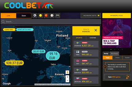 Coolbet esitleb uut funktsiooni - kasutajate kasiino ja spordiennustuste võidud reaalajas uudised KASIINO, POKKERI JA SPORDIENNUSTUSE UUDISED & ARTIKLID coolbet reaalajas voitjad sport kasiino 1