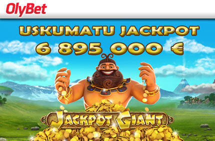 Saadaval on läbi aegade suurim jackpot slotimängus Jackpot Giant! uudised KASIINO, POKKERI JA SPORDIENNUSTUSE UUDISED & ARTIKLID olybet jackpot giant 7 miljonit boonused 1