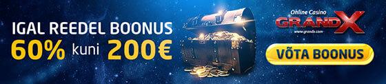 tervitusboonus GRANDX KASIINO €250 TERVITUSBOONUS NING REEDENE €200 BOONUS reedel grandx boonus 200 560x122