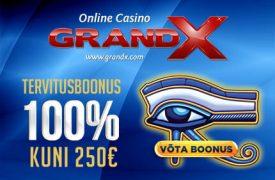 Grandx Tervitusboonus grandprix kasiino GrandPrix Kasiino grandx tervitusboonus 250 euro boonused 1 275x180