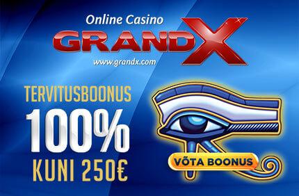 Grandx Tervitusboonus [object object] Kasiino boonused, kampaaniad, tasuta spinnid grandx tervitusboonus 250 euro boonused 1