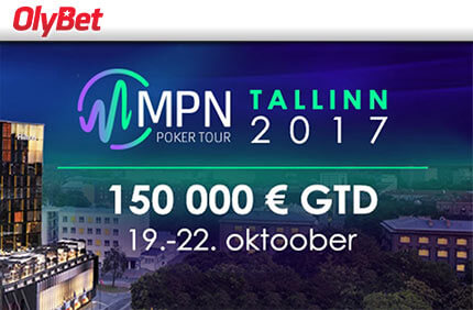 MPN POKER TOUR TALLINN 2017 SATELLIITTURNIIRID Satelliit turniirid Satelliit turniirid pokker mpn tallinn 2017 olybet boonused 1
