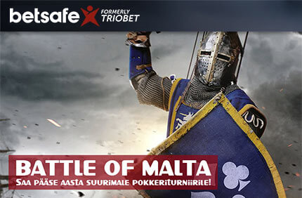 Battle of Malta Satelliit turniirid Satelliit turniirid battle of malta pokkeriturniir betsafe boonused 1
