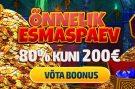 SELLEL ESMASPÄEVAL ON GRANDX KASIINOS SAADAVAL SOODNE €200 RELOAD BOONUS