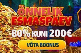 SELLEL ESMASPÄEVAL ON GRANDX KASIINOS SAADAVAL SOODNE €200 RELOAD BOONUS grandprix kasiino GrandPrix Kasiino grandx esmaspaev reload boonused 1 275x180