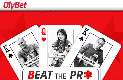 SELLEL KOLMAPÄEVAL TOIMUB OLYBET'i POKKERITOAS BEAT THE PRO POKKERITURNIIR, vt.lisaks freeroll ja satelliitturniir Satelliit turniirid Satelliit turniirid online pokker olybet beat the pro boonused 1