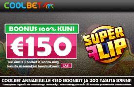 €150 boonust Coolbet esitleb uut funktsiooni - kasutajate kasiino ja spordiennustuste võidud reaalajas Coolbet esitleb uut funktsiooni – kasutajate kasiino ja spordiennustuste võidud reaalajas coolbet kasiino boonus super flip spinnid 2 275x180