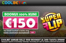 €150 boonust coolbet Coolbet coolbet kasiino boonus super flip spinnid 2 275x180