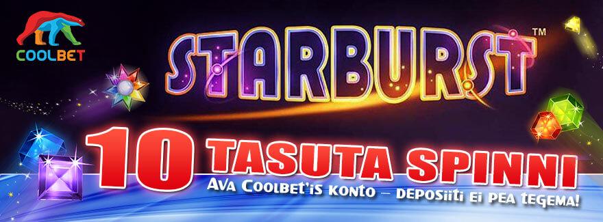 TASUTA PÄRISRAHA SPINNID [object object] LIITUMISEL SAAD KOHESELT TASUTA PÄRISRAHA SPINNID SLOTIMÄNGUS STARBURST coolbet starburst tasuta spinnid boonused 1