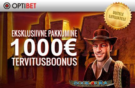 TERVITUSBOONUS [object object] Kasiino boonused, kampaaniad, tasuta spinnid 1000 tervitusboonus online kasiino optibet boonused 1