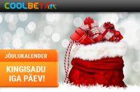 Coolbeti Jõulukalender coolbet Coolbet coolbet joulukalender kingisadu boonused 2017 200x131