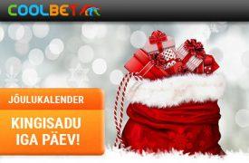 Coolbeti Jõulukalender valimiste eripakkumine VALIMISTE ERIPAKKUMINE! AVA OMALE COOLBET'IS KONTO NING SAAD €10 TASUTA PANUSE VALIMISTULEMUSTE ENNUSTAMISEKS coolbet joulukalender kingisadu boonused 2017 275x180