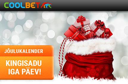Coolbeti Jõulukalender kasiino kampaaniad ONLINE KASIINO KAMPAANIAD, SPORDIENNUSTUSE KAMPAANIAD JA POKKERI KAMPAANIAD NING BOONUSED TUBADE JÄRGI coolbet joulukalender kingisadu boonused 2017