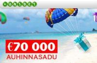 Auhinnasadu FREEROLLID FREEROLLID 70000 rahasadu pokker unibet boonused 1 200x131