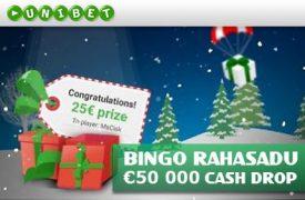 Bingo Cash Drop tasuta keerutused PANUSTA BINGOS €5 EEST JA SAAD TASUTA KEERUTUSED NING OSALED AUHINDADE LOOSIMISEL cash drop bingo unibet boonused 1 275x180