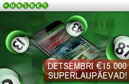 Superlaupäevad bingo boonused BINGO BOONUSED detsembri superlaupaevad bingo unibet boonused 1