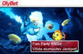 Fish Party freerollid UUTELE MÄNGIJATELE €888 & €1000 FREEROLLID +€500 GTD TURNIIR fish party sng jackpot olybet pokker boonused 2 275x180