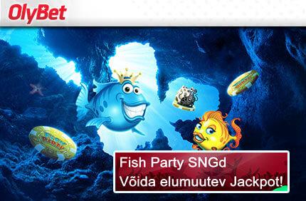Fish Party kasiino kampaaniad ONLINE KASIINO KAMPAANIAD, SPORDIENNUSTUSE KAMPAANIAD JA POKKERI KAMPAANIAD NING BOONUSED TUBADE JÄRGI fish party sng jackpot olybet pokker boonused 2