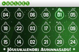 Unibet'i Advendikalender unibet kihlveokontor Unibet Kihlveokontor joulukalendri auhinnasadu unibet boonused 1 275x180