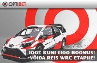 REIS WRC ETAPILE [object object] Spordiennustuse kampaaniad, pakkumised, boonused, tasuta panused, Eesti Online Kihlveokontorid deposiidiboonus reis wrc etapile optibet boonused 1 200x131