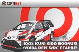 REIS WRC ETAPILE [object object] Spordiennustuse kampaaniad, pakkumised, boonused, tasuta panused, Eesti Online Kihlveokontorid deposiidiboonus reis wrc etapile optibet boonused 1 275x180