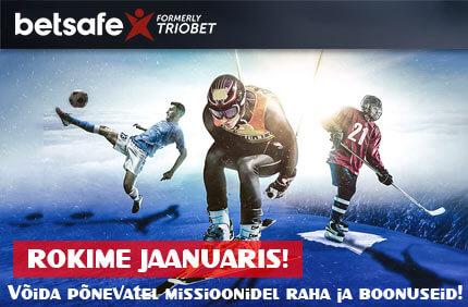 ROKI ÖÖPÄEV LÄBI – TÄIDA MISSIOONID NING SAA RAHA & BOONUSED! rokime jaanuaris betsafe boonused sport 1