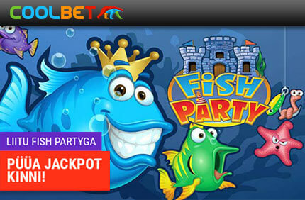 FISH PARTY fish party OSALE COOLBET POKKERITOA FISH PARTY TURNIIRIDEL NING VÕIDA HIIGLASLIK PROGRESSIIVNE JACKPOT! coolbet fish party jackpot boonused 1 1