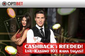Cashback'i reeded tervitusboonus OPTIBET KASIINO TERVITUSBOONUS €1000 +iPhone X loosimine optibet cashback reede live kasiino boonused 1 275x180