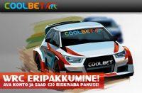 WRC ERIPAKKUMINE [object object] Spordiennustuse kampaaniad, pakkumised, boonused, tasuta panused, Eesti Online Kihlveokontorid coolbet wrc eripakkumine sport boonused 1 200x131