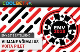 EMV 2018 fish party OSALE COOLBET POKKERITOA FISH PARTY TURNIIRIDEL NING VÕIDA HIIGLASLIK PROGRESSIIVNE JACKPOT! emv satelliidid coolbet 2018 pokker boonused 1 275x180