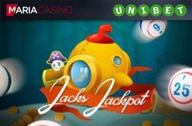 JACK'S JACKPOT grand slam MÄNGI BINGOT JA SAA LIGIPÄÄS EKSKLUSIIVSELE 'GRAND SLAM' BINGO PRIVAATTOALE jacks jackpot unibet maria bingo boonused 1 275x180