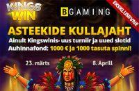 Asteekide Kullajaht tasuta raha TASUTA RAHA kingswin asteekide kullajaht kasiino boonused 1 200x131