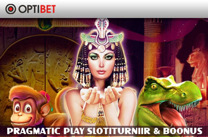 NÄDALANE TURNIIR pragmatic play OPTIBET KASIINO IGANÄDALANE PRAGMATIC PLAY SLOTITURNIIR & 50% KUNI €50 BOONUS pragmatic play slotiturniir boonus optibet 1