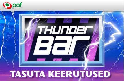 ThunderBar kasiino kampaaniad ONLINE KASIINO KAMPAANIAD, SPORDIENNUSTUSE KAMPAANIAD JA POKKERI KAMPAANIAD NING BOONUSED TUBADE JÄRGI thunderbar tasuta keerutused paf kasiino 1