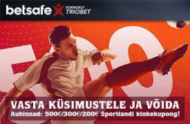 Kinkekupong Sportlandilt triobet kihlveokontor Betsafe Kihlveokontor betsafe raha auhinnad sportland boonused 1 275x180