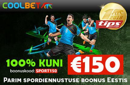 Coolbet Sport tervitusboonus ALUSTA SPORDIENNUSTUSTE TEGEMIST ÜLIVÕIMSALT KOOS €50 VÕI €150 TERVITUSBOONUSEGA coolbet sport tips tervitusboonus 1