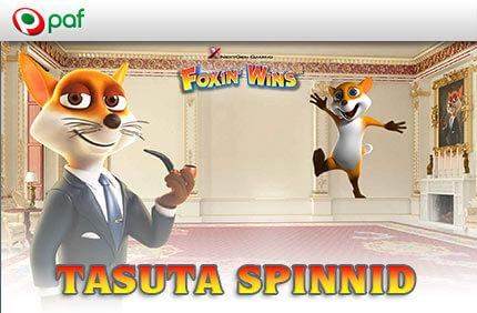 Foxin Wins kasiino kampaaniad ONLINE KASIINO KAMPAANIAD, SPORDIENNUSTUSE KAMPAANIAD JA POKKERI KAMPAANIAD NING BOONUSED TUBADE JÄRGI foxin wins paf kasiino tasuta spinnid boonused 1