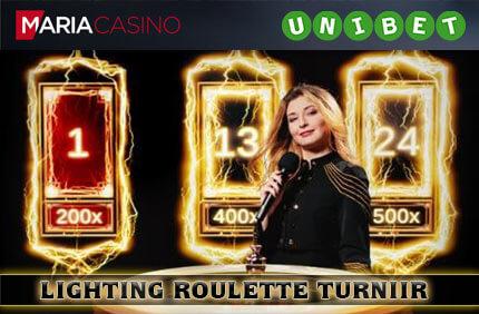 Lighting Roulette Turniir lighting roulette turniir OSALE LIGHTING ROULETTE €15 000 TURNIIRIL lighting roulette turniir unibet maria kasiino 1
