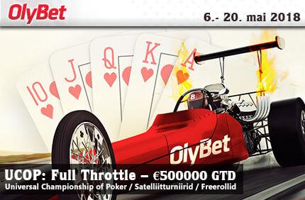 UCOP: Full Throttle Satelliit turniirid Satelliit turniirid olybet ucop full throttle pokker freeroll boonused 1